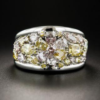 Platinum Fancy Color Diamond Band Ring