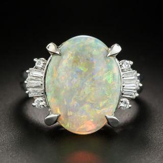 Platinum Opal Diamond Ring - 1