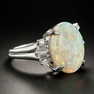 Platinum Opal Diamond Ring
