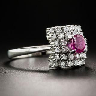 Platinum Ruby and Diamond Estate Ring