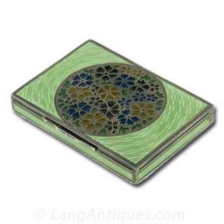 Plique-a-Jour and Enamel Box