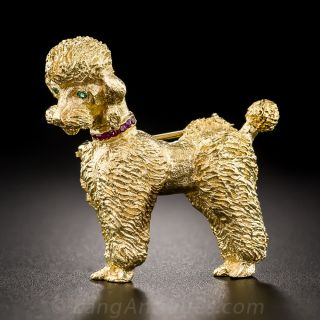 Poodle Dog Pin  - 1