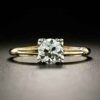 Post-Art Deco .60 Carat Solitaire Diamond Engagement Ring - 2