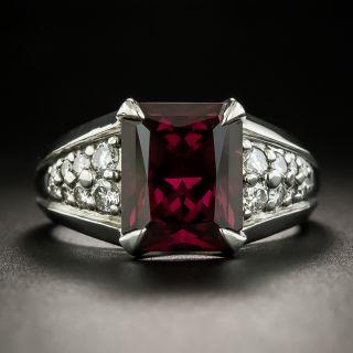 Rare Color Shift Garnet and Diamond Ring - 2