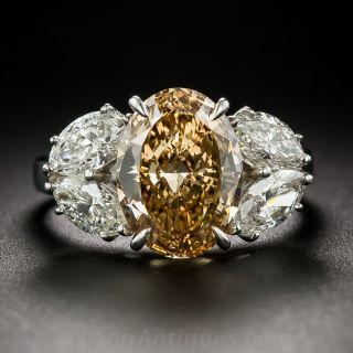 Rare Natural Orange Diamond Ring