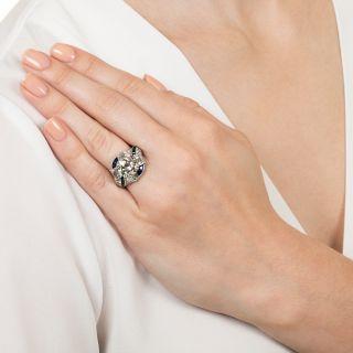 Raymond Yard 3.08 Carat Diamond and Sapphire Ring - GIA K VS1