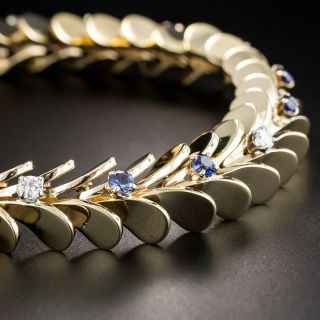Raymond Yard Mid-Century Sapphire and Diamond Bracelet