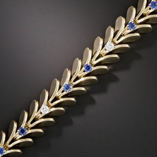 Raymond Yard Mid-Century Sapphire Diamond Bracelet - 2