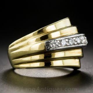 Retro 18K Diamond Ring