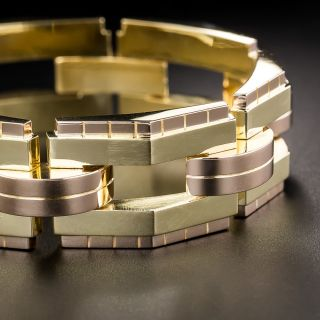 Retro 18K Yellow and Rose Gold Bracelet