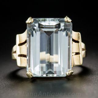 15 Carat Retro Aquamarine Ring