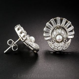 Retro / Art Deco Fan Earrings