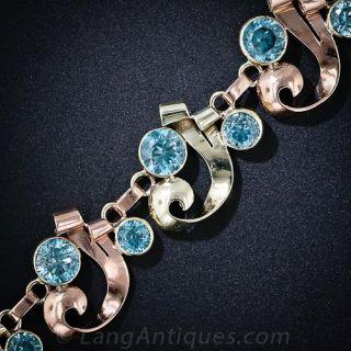 Retro Blue Zircon Bracelet