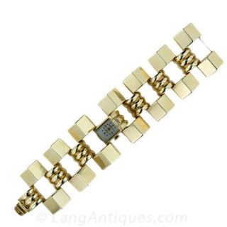 Retro Covered Link Bracelet Watch Item View 1
