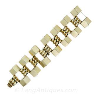 Retro Covered Link Bracelet Watch