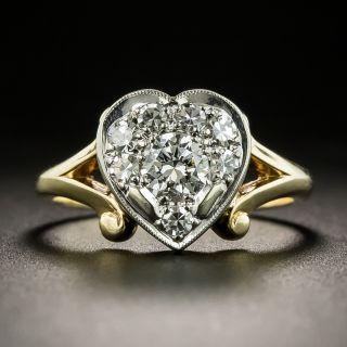 Vintage Diamond Heart Ring - 2