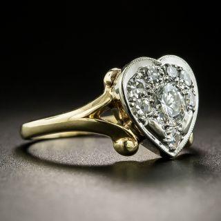Retro Diamond Heart Ring