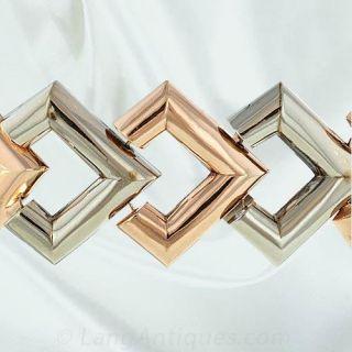 Retro Geometric Link Bracelet