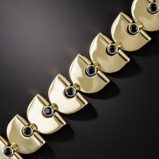 Retro Gold and Sapphire Bracelet