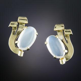 Retro Moonstone Earrings - 1