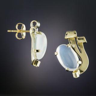 Retro Moonstone Earrings