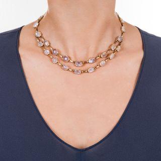 Retro Moonstone Necklace