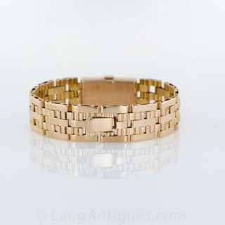 Retro Paul Ditisheim Rose Gold Bracelet Watch
