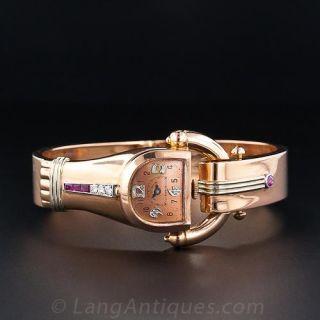 Retro Rose Gold  Bangle Watch