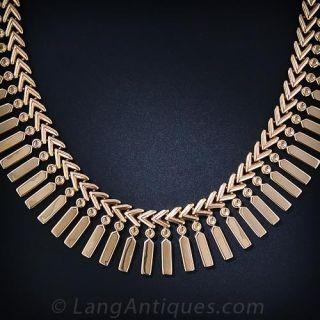 Retro Rose Gold Fringe Necklace