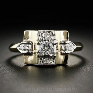 Retro Two-Tone Diamond Ring