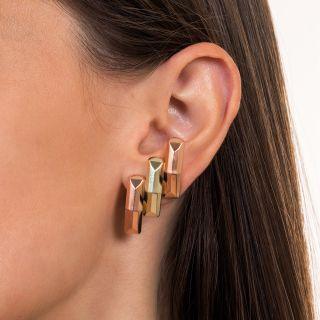 Retro Two-Tone Earrings