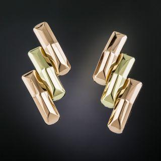 Retro Two-Tone Earrings - 2