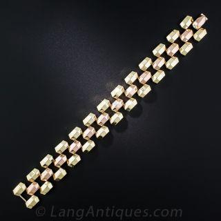 Retro Two-Tone Gold Bracelet
