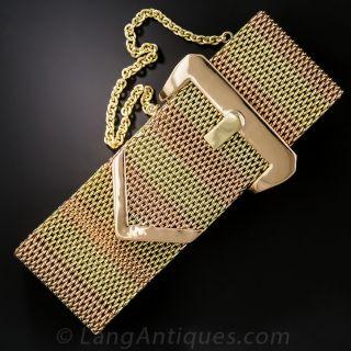 Retro Two-Tone Gold Buckle Bracelet - 1
