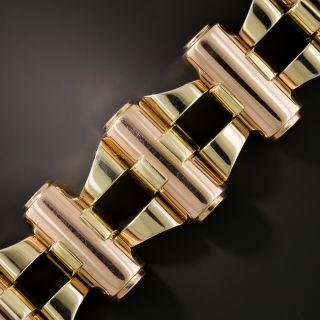 Retro Two-Tone Rose and Yellow Gold Bracelet