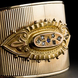 Retro Victorian Style Gold Bangle Bracelet