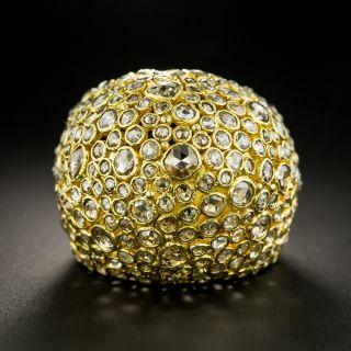 Rose-Cut Diamond Bombé Ring - 1