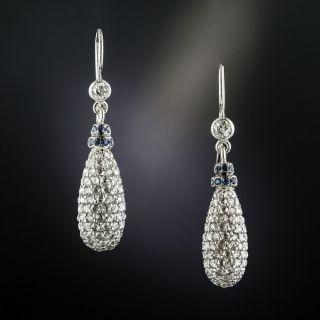 Rose-Cut Diamond Drop Earrings - 4