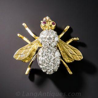 Rosenthal Diamond Bee Brooch