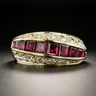 Ruby and Diamond Band Ring by Oscar Heyman Bros. - 2
