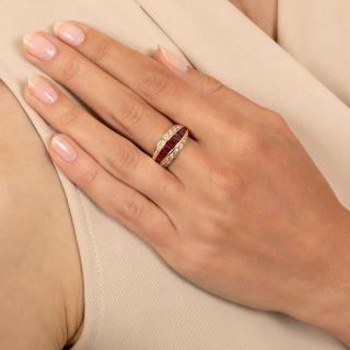 Ruby and Diamond Band Ring by Oscar Heyman Bros.
