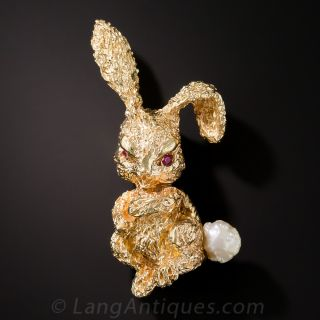 Ruser Bunny Brooch