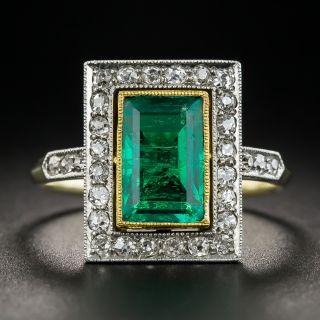 Russian 1.80 Carat Gem Emerald and Diamond Ring - 1