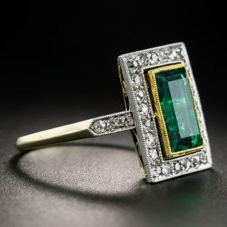 Russian 1.80 Carat Gem Emerald and Diamond Ring