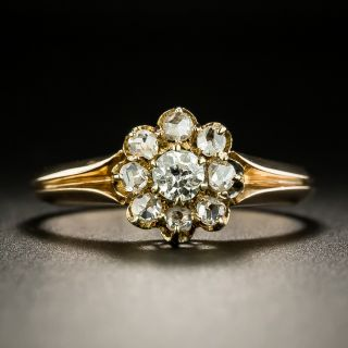Russian Antique Diamond Cluster Ring - 2