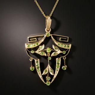 Russian Art Nouveau Demantoid Pendant Necklace - 2