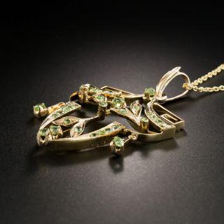 Russian Art Nouveau Demantoid Pendant Necklace