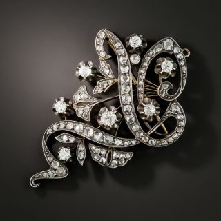 Russian Diamond Brooch - 2