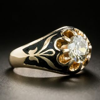 Russian Victorian Style 1.40 Carat Solitaire Engagement Ring