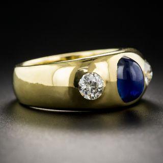Sapphire and Diamond Three-Stone Ring, French